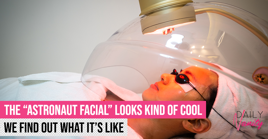 "This facial puts you in a ""space helmet"" – and it's a pretty out-of-the-world experience"
