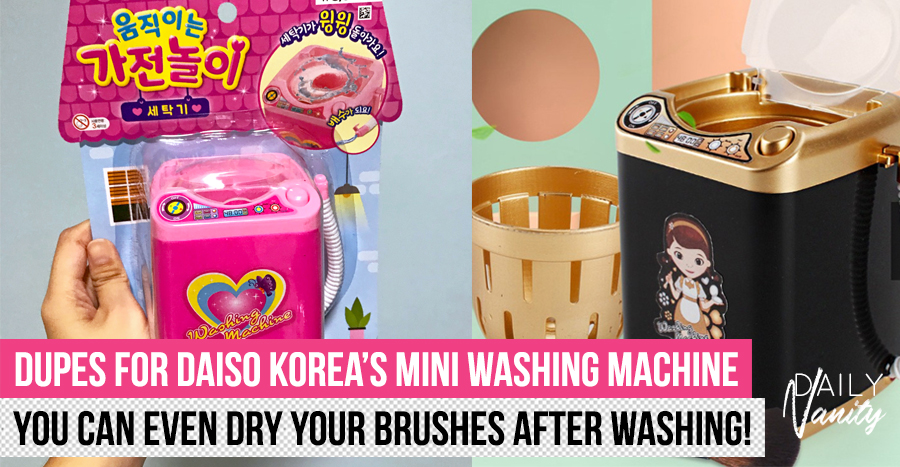 The sold-out Daiso Washing Machine actually has dupes – one even comes with a drying function!