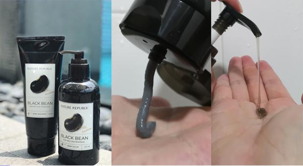 Nature Republic Anti Hair Loss Black Bean Shampoo Treatment Review Texture Shot