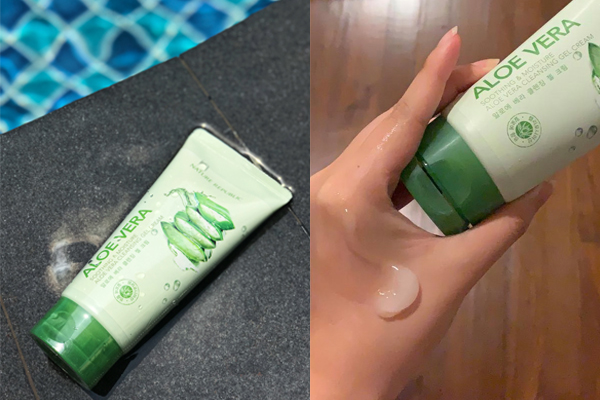 Nature Republic Cleansing Gel Aloe Vera Review Product Texture