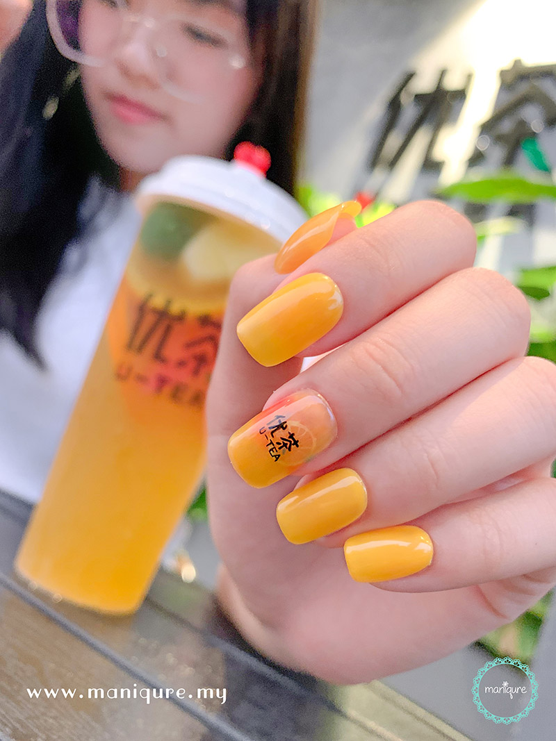Bubble Tea Nail Art Design U Tea