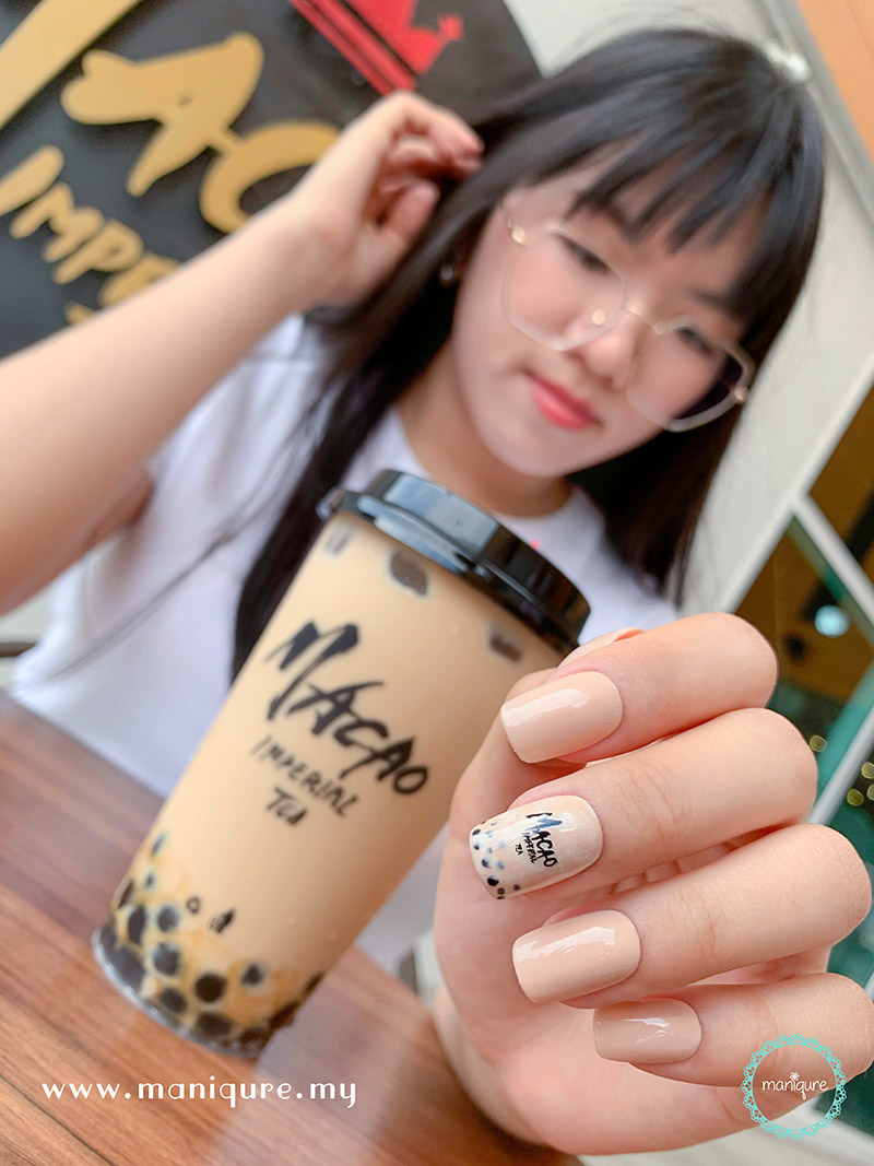 Bubble Tea Nail Art Design Macao Imperial Tea