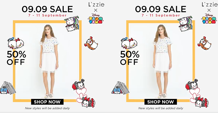 Enjoy 50% Off L'zzie Singapore outfits till 11th September 2019!