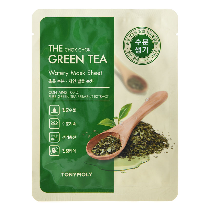 Tonymoly The Chok Chok Green Tea Watery Sheet Mask