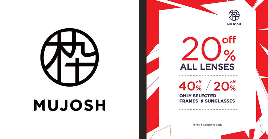 Enjoy up to 40% off on lenses, frames, and sunglasses at Mujosh Singapore!