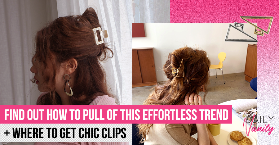Claw clips and croc clips are back in trend! Here's how you can style 'em effortlessly