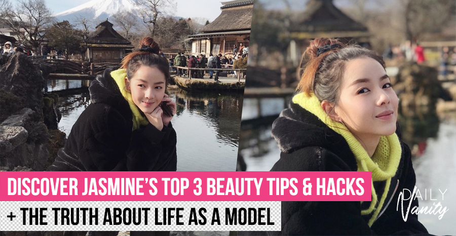 One of Jasmine Sim's beauty hacks include carrying a 1.5kg item around. Find out what it is!