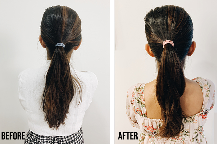 Phs Hairscience Ponytail Before After