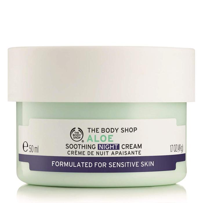 moisturisers for sensitive skin The Body Shop® Aloe Soothing Night Cream