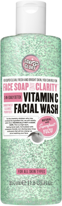 Best Face Washes For Treating And Getting Rid Of Acne Scars Soap Glory Face Vitamin C Facial Wash