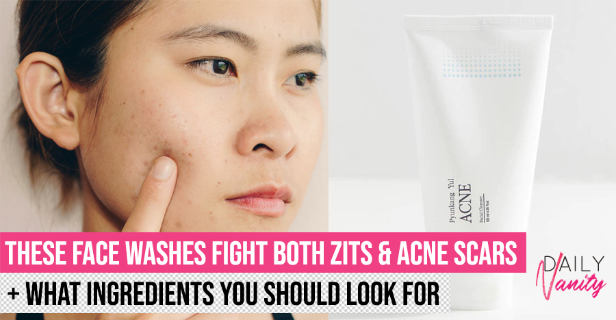 31 best face washes and cleansers for fading acne scars