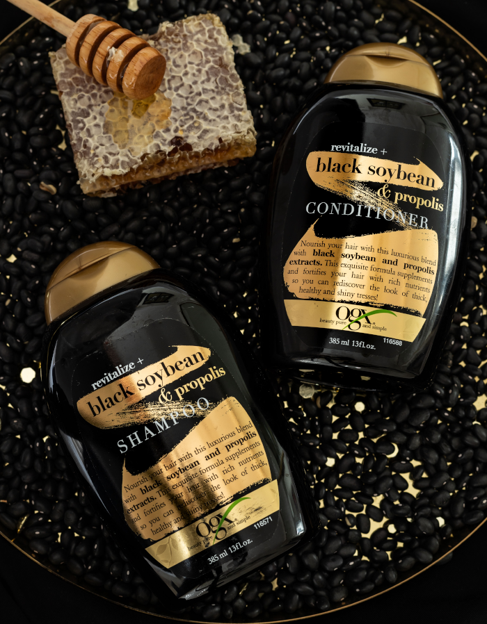 OGX Revitalize + Black Soybean & Propolis Shampoo and Conditioner