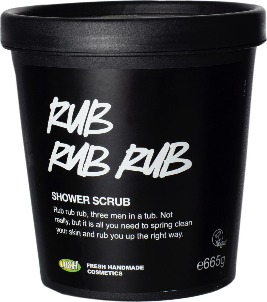 Lush Products Rub Rub Rub Shower Scrub