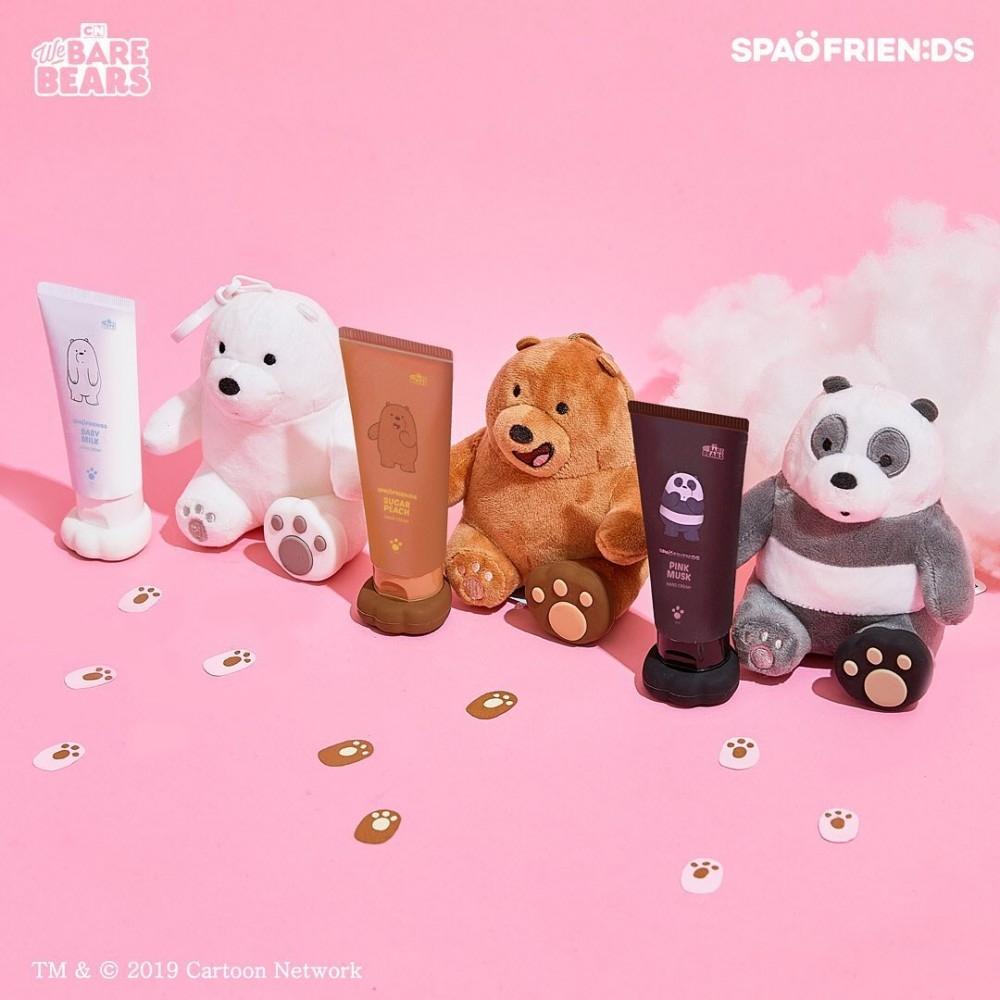 We Bare Bears X Spao Hand Creams