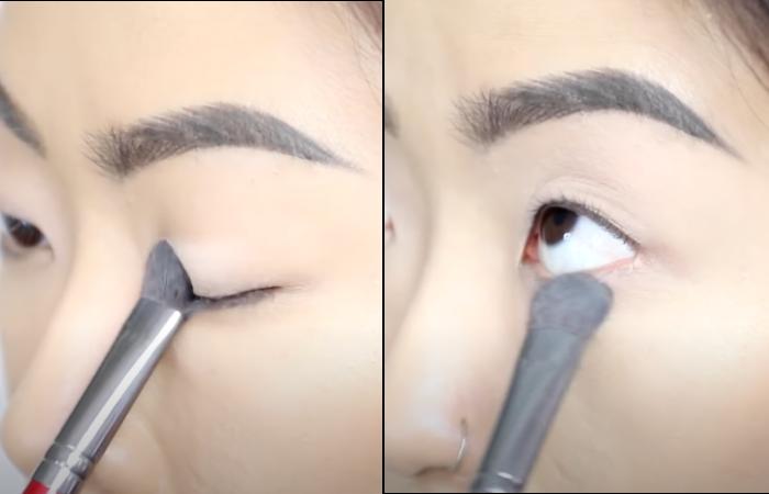 smokey eyes monolids step 1