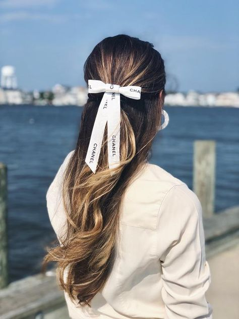 Halfup Hairstyle With Bow Tie 10