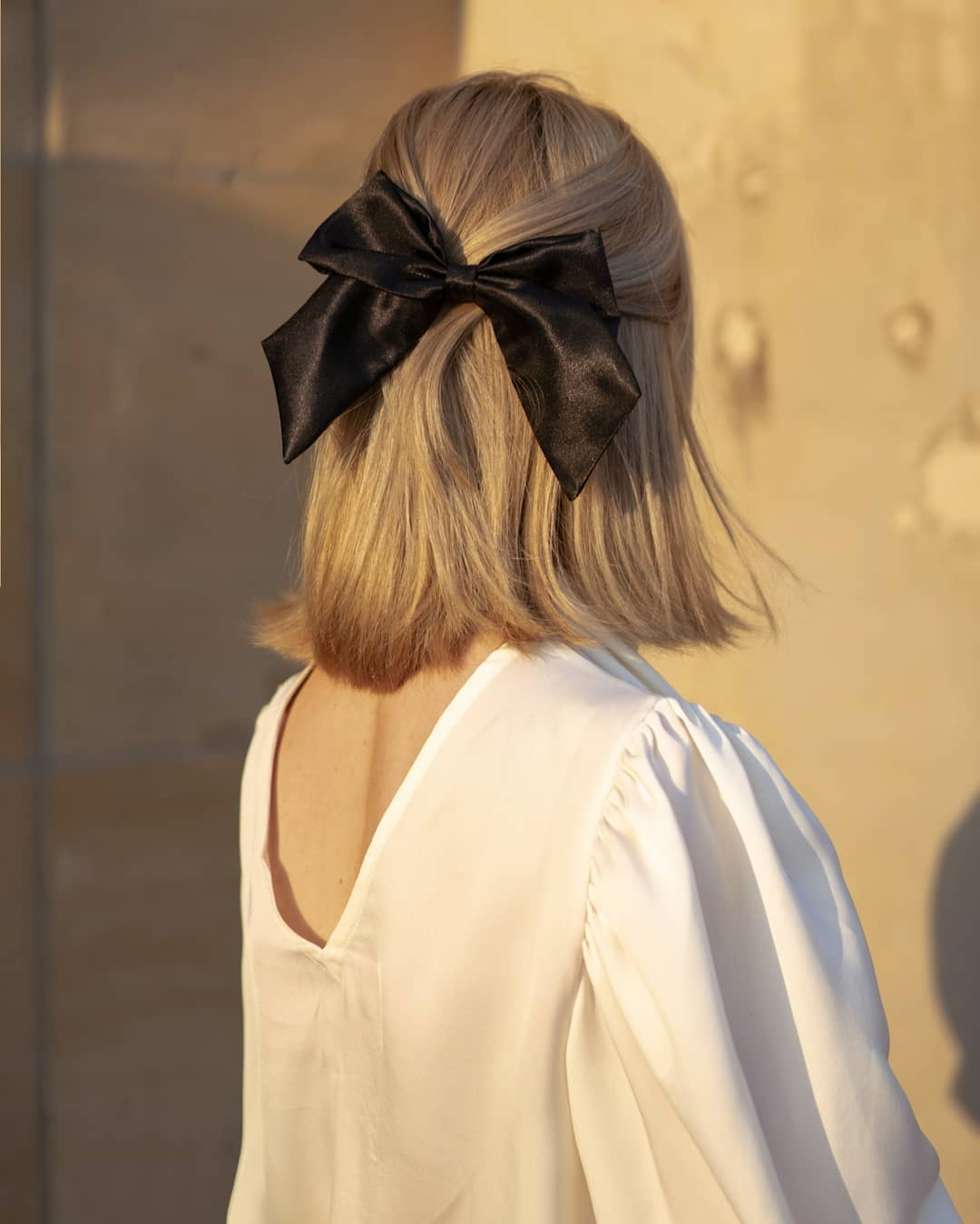 Halfup Hairstyle With Bow Tie 9