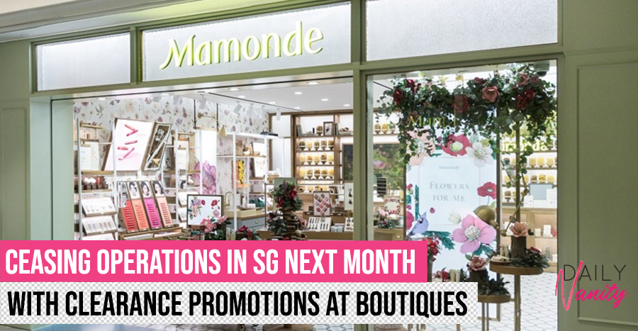 K-beauty brand Mamonde is pulling out of Singapore – see details on their clearance sales inside!