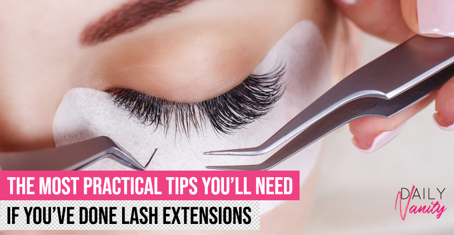 Lash Extensions Maintenance Tips Featured