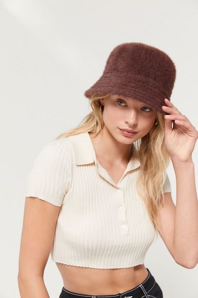 Fuzzy Bucket Hat Urban Outfitters