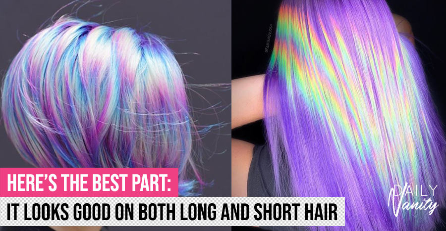 Move over, unicorn and mermaid hair: the holographic trend is the new way to rock rainbow hair
