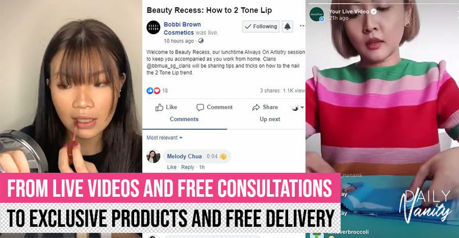 What beauty brands are doing for customers during the Circuit Breaker