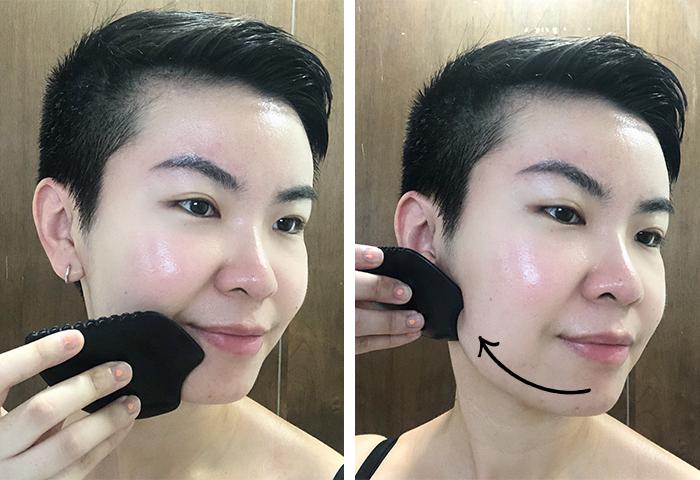 Gua Sha Facial Massage Step 1