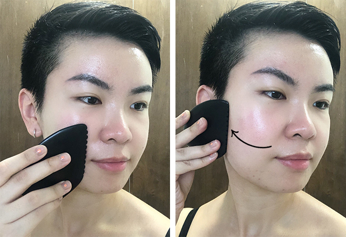Gua Sha Facial Massage Step 3