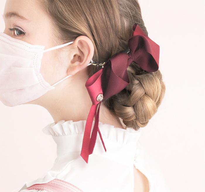 Japanese Hair Ribbon Clip For Masks