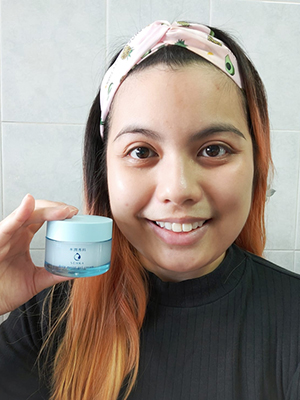 Senka Deep Moist Gel Cream Reviewer Hanisah