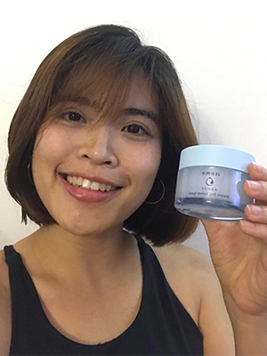 Senka Deep Moist Gel Cream Reviewer Hanna