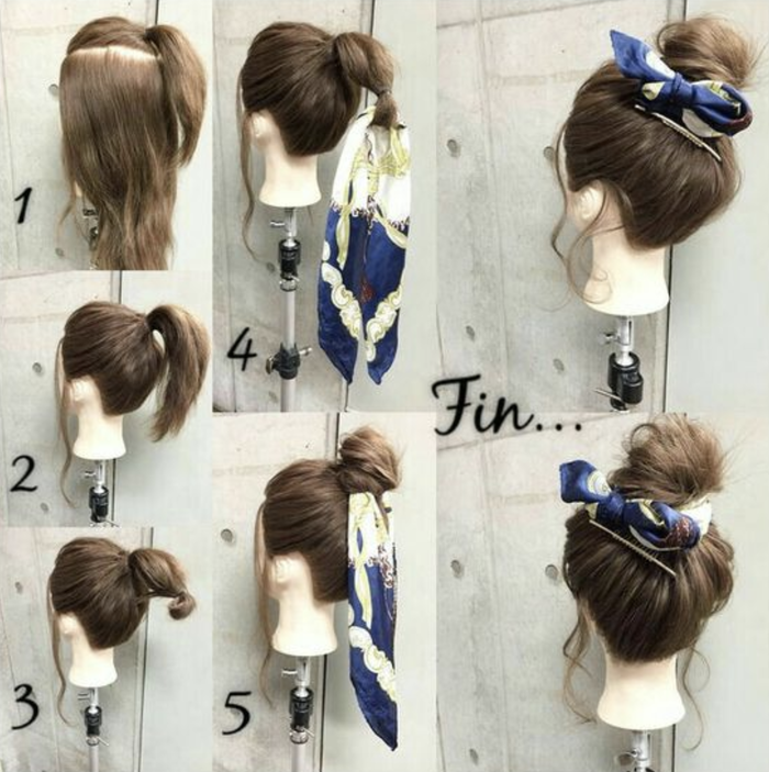 Bun Hairstyles Bandana Tutorial One