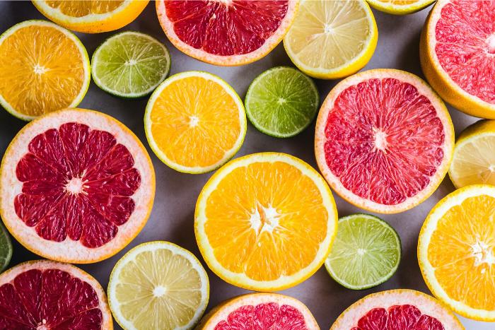 Vitamin C-citruses-flatlay
