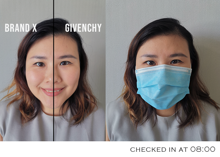 Givenchy Prisme Libre Review Longevity Test With Surgical Mask2