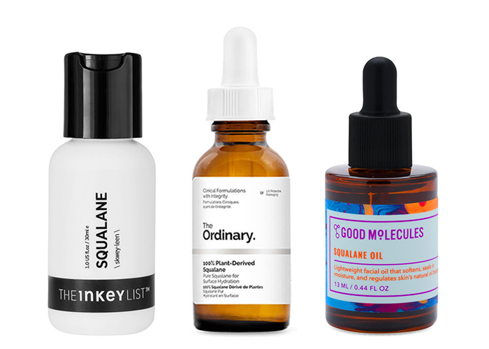 Hydrating Skincare Ingredients The Inkey List Ordinary Good Molecules Squalane Oil