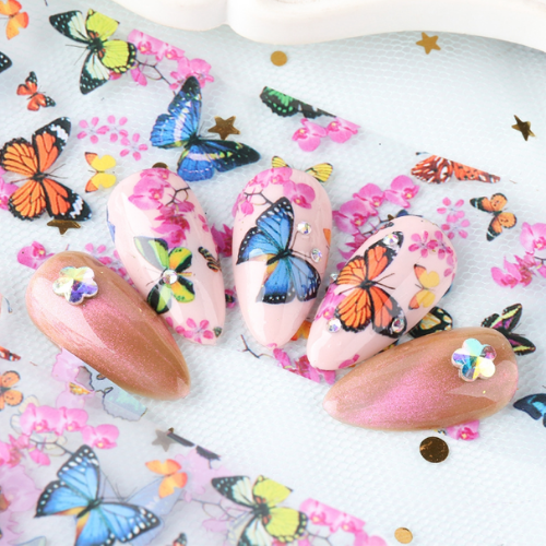 Mioshop Butterfly Nail Art Stickers - Shopee
