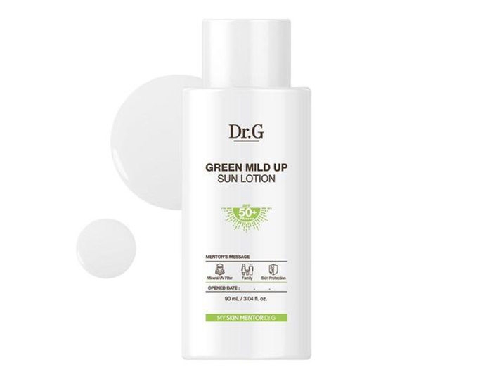 Sunscreens Darker Skin Tones Dr G Green Mild Up Lotion