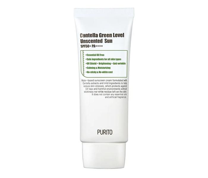Sunscreens Darker Skin Tones Purito Centella Green Level Unscented