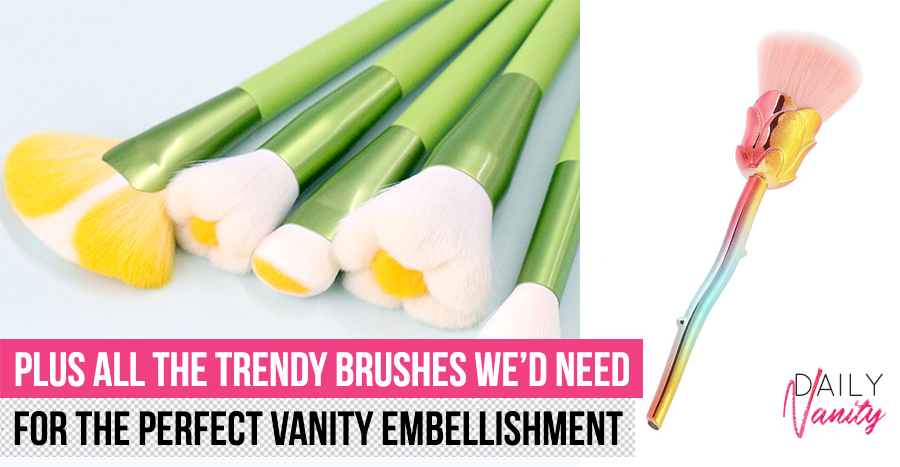 This gorgeous brush set pretty much doubles up as a decor piece