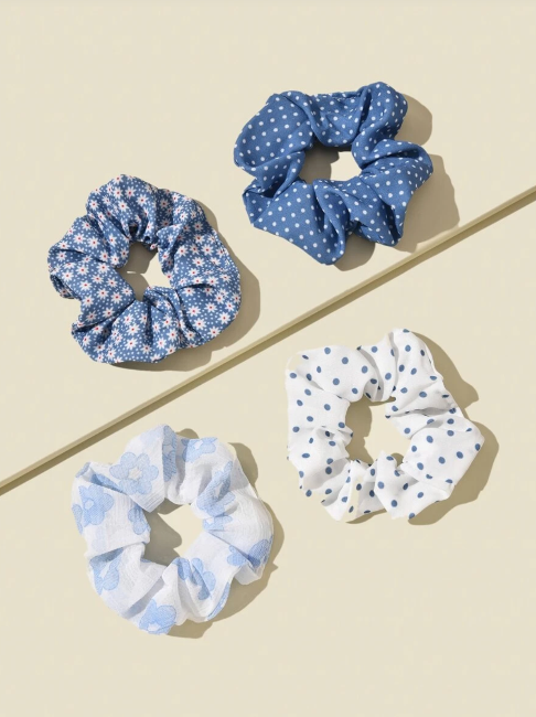 Shein Flower Pattern Scrunchie