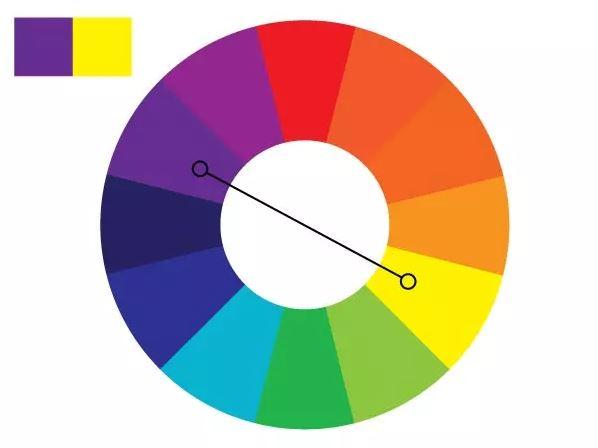 Colour Wheel Purple Yellow