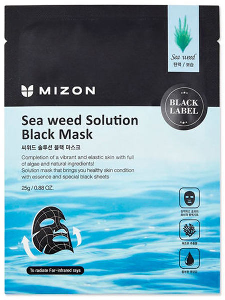 Korean Skincare Ingredient Guide Mizon Seaweed Solution Black Mask