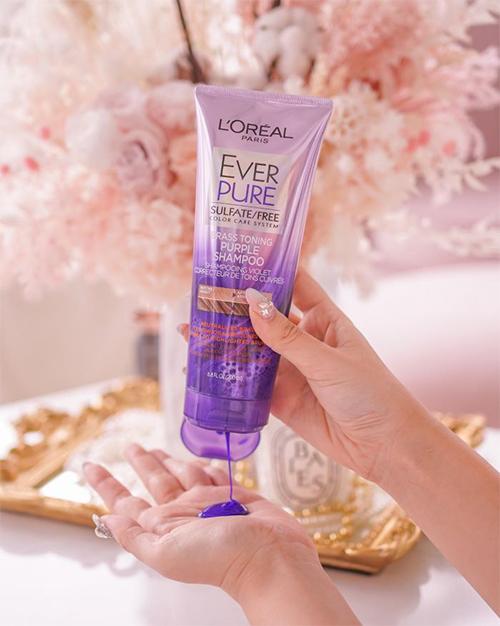 Loreal Everpure Purple Shampoo Texture