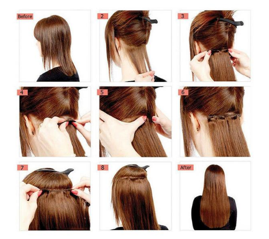 Mhot Clip In Hair Extensions Step By Step Tutorial Guide