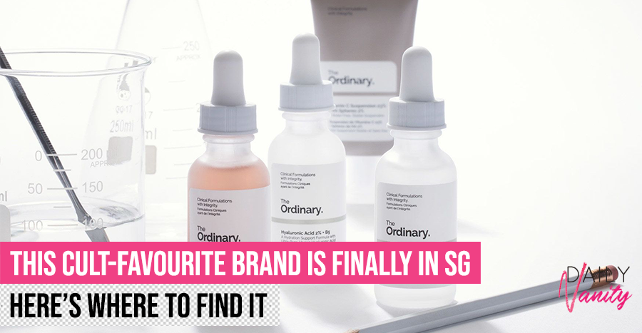 Good news: The Ordinary is now officially retailing in Singapore