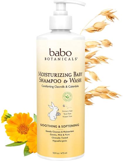 Babo Botanicals Baby Moisturising Shampoo & Wash