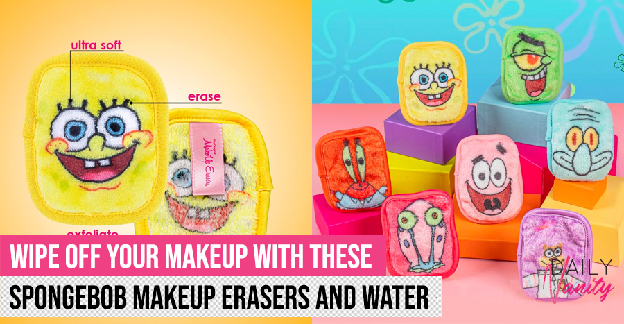 These Spongebob MakeUp Erasers clean your makeup off with just one swipe!