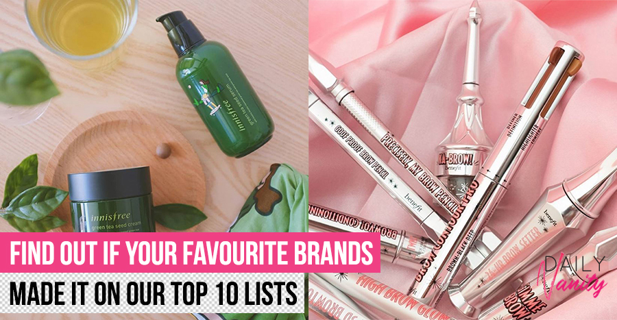 The top 10 trusted skincare, makeup, & haircare brands in Singapore voted by consumers (2020 edition)