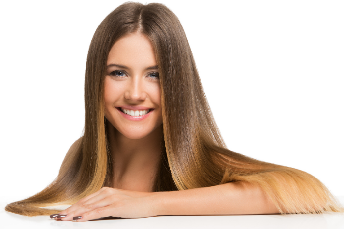 Woman With Long Hair Smiling