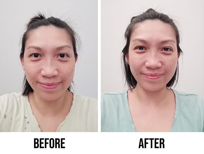 Innisfree Black Tea Youth Enhancing Ampoule Review Diana Before After
